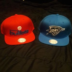 2 BRAND NEW MITCHELL AND NESS SNAPBACKS